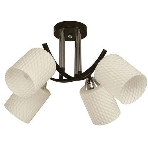 IM2 LAMP 4305158-91 SUSP. NEGRO VIDR/BLANCO 4L*E27