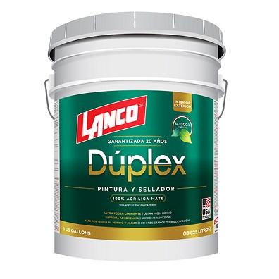 LANCO DUPLEX PINTURA BLANCO MATE DU3420-2 (CUB)