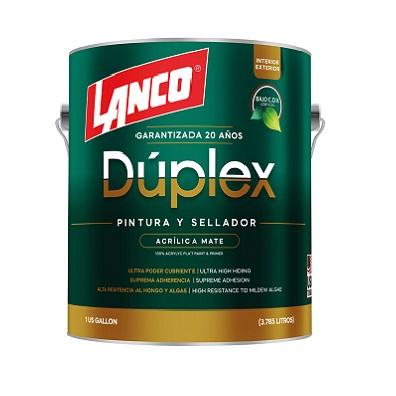 LANCO DUPLEX PINTURA BLANCO MATE DU3420-4 (GLN)